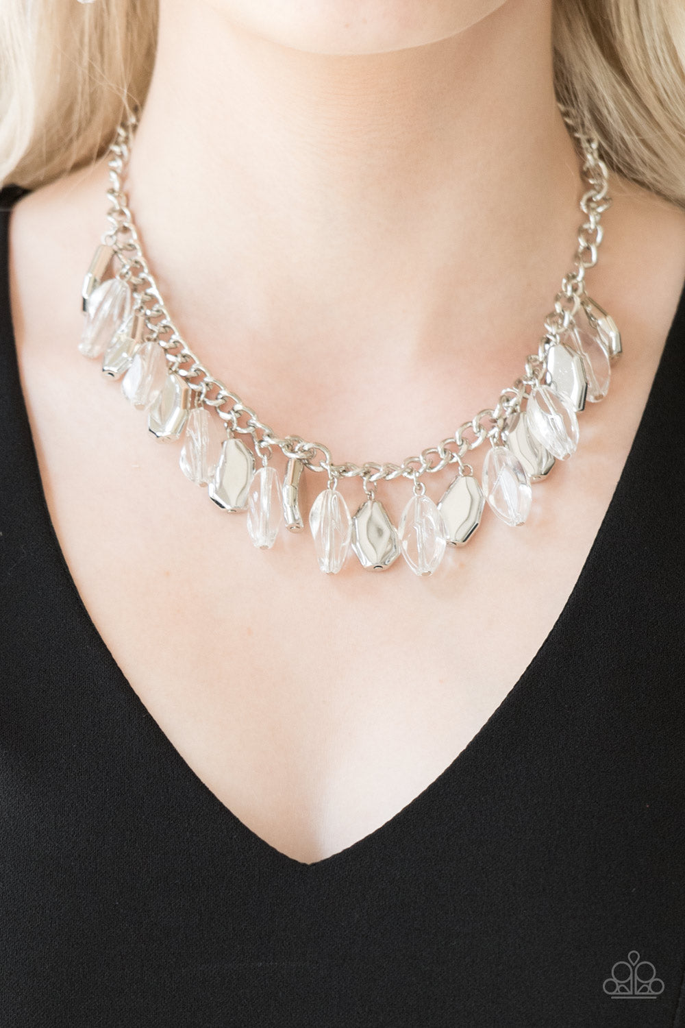 Paparazzi Accessories Fringe Fabulous - White Necklaces
