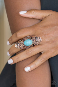 Paparazzi Accessories Ego Trippin - Copper Rings  - Lady T Accessories