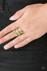 Paparazzi Accessories Metro Mingle - Green Rings  - Lady T Accessories