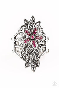 Paparazzi Accessories Formal Floral - Pink Rings - Lady T Accessories