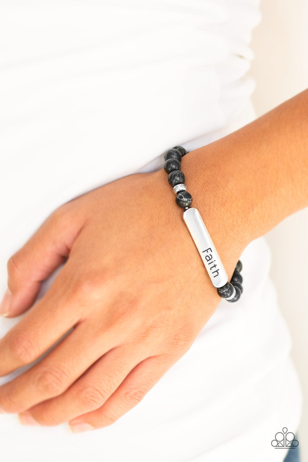 Paparazzi Accessories Fearless Faith - Black Bracelets - Lady T Accessories