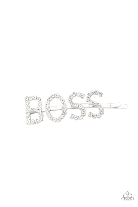Paparazzi Accessories Yas! Boss - White Hair Clip