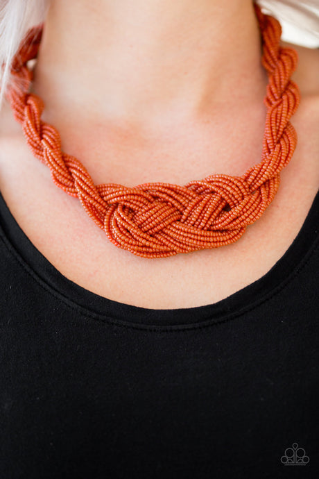 A Standing Ovation Orange Necklaces Paparazzi Accessories  Lady T Accessories