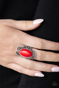 Paparazzi Accessories Desert Flavor - Red Rings - Lady T Accessories