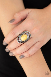 Paparazzi Accessories Royal Roamer - Yellow Rings - Lady T Accessories
