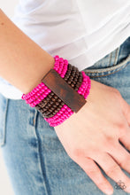 Load image into Gallery viewer, Paparazzi Accessories Jamaican Me Jam - Pink Wood Bracelets - Lady T Accessories