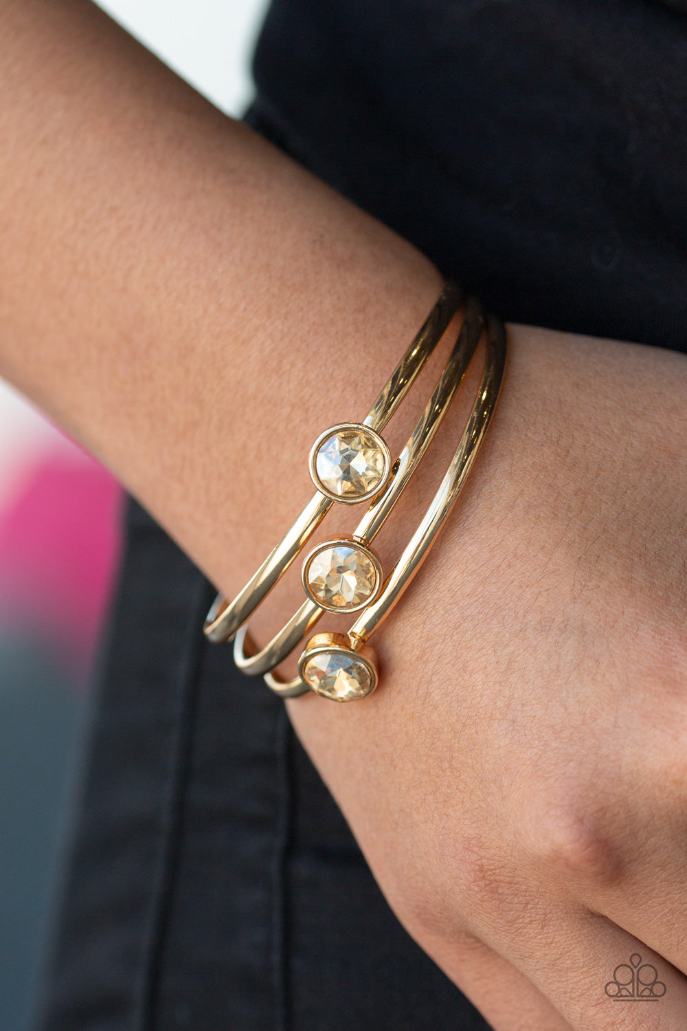Paparazzi Accessories Be All You Can Bedazzle - Gold Bracelets - Lady T Accessories
