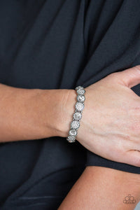 Paparazzi Accessories Take a Moment to Reflect White Bracelets