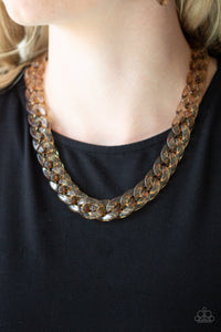 Paparazzi Accessories Put It On Ice - Brass Necklaces - Lady T Accessories
