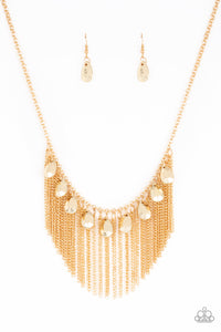 Paparazzi Accessories Bragging Rights - Gold Necklaces - Lady T Accessories