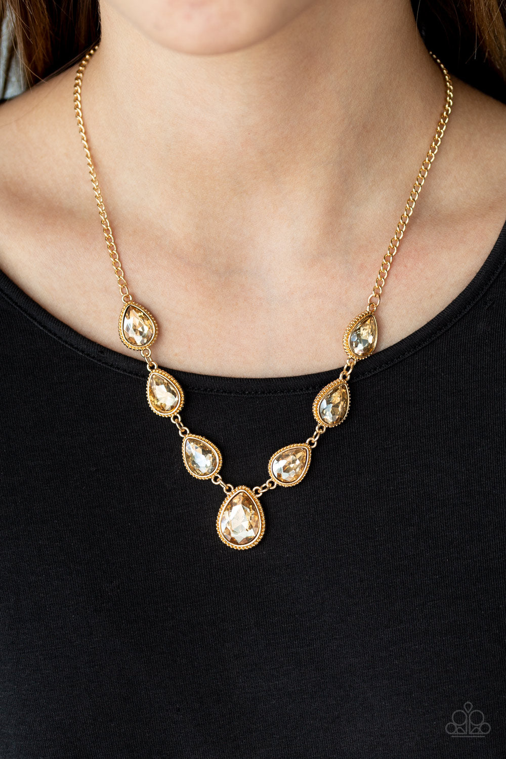 Paparazzi Accessories Socialite Social - Gold Necklaces - Lady T Accessories