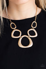 Load image into Gallery viewer, Paparazzi Accessories Backstreet Bandit - Gold Necklaces
