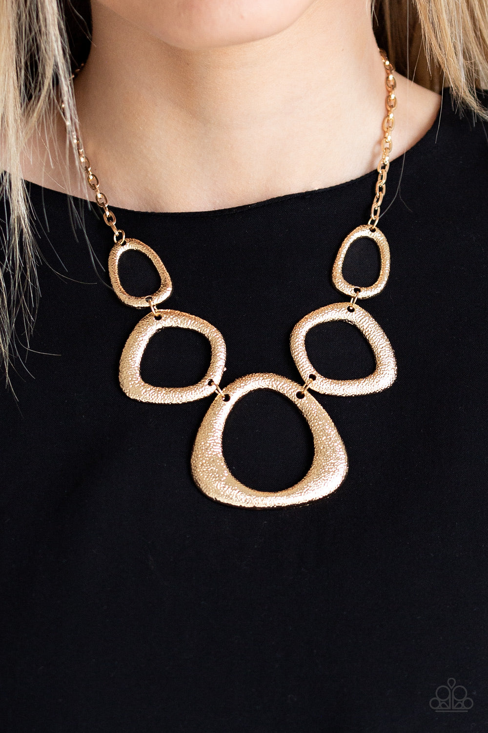 Paparazzi Accessories Backstreet Bandit - Gold Necklaces - Lady T Accessories