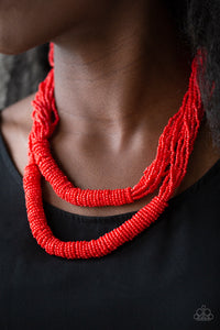 Paparazzi Accessories Right as RAINFOREST - Red Necklaces - Lady T Accessories