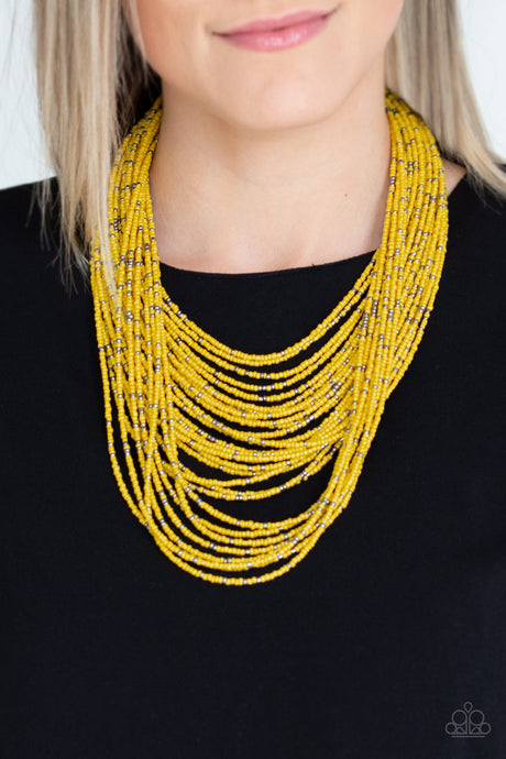 Paparazzi Accessories Rio Rainforest - Yellow Necklaces - Lady T Accessories