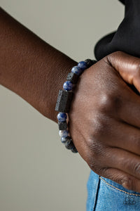 Paparazzi Accessories Zenned Out - Blue Urban Bracelets - Lady T Accessories