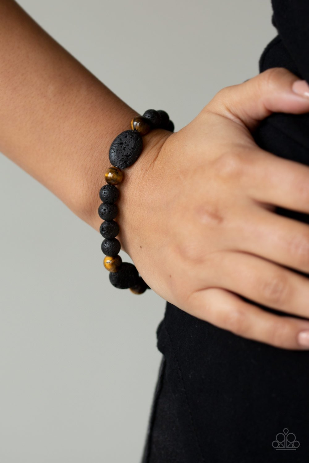 Paparazzi Accessories A Hundred and ZEN - Brown Urban Bracelets