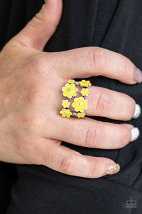 Paparazzi Accessories Floral Crowns Yellow Rings