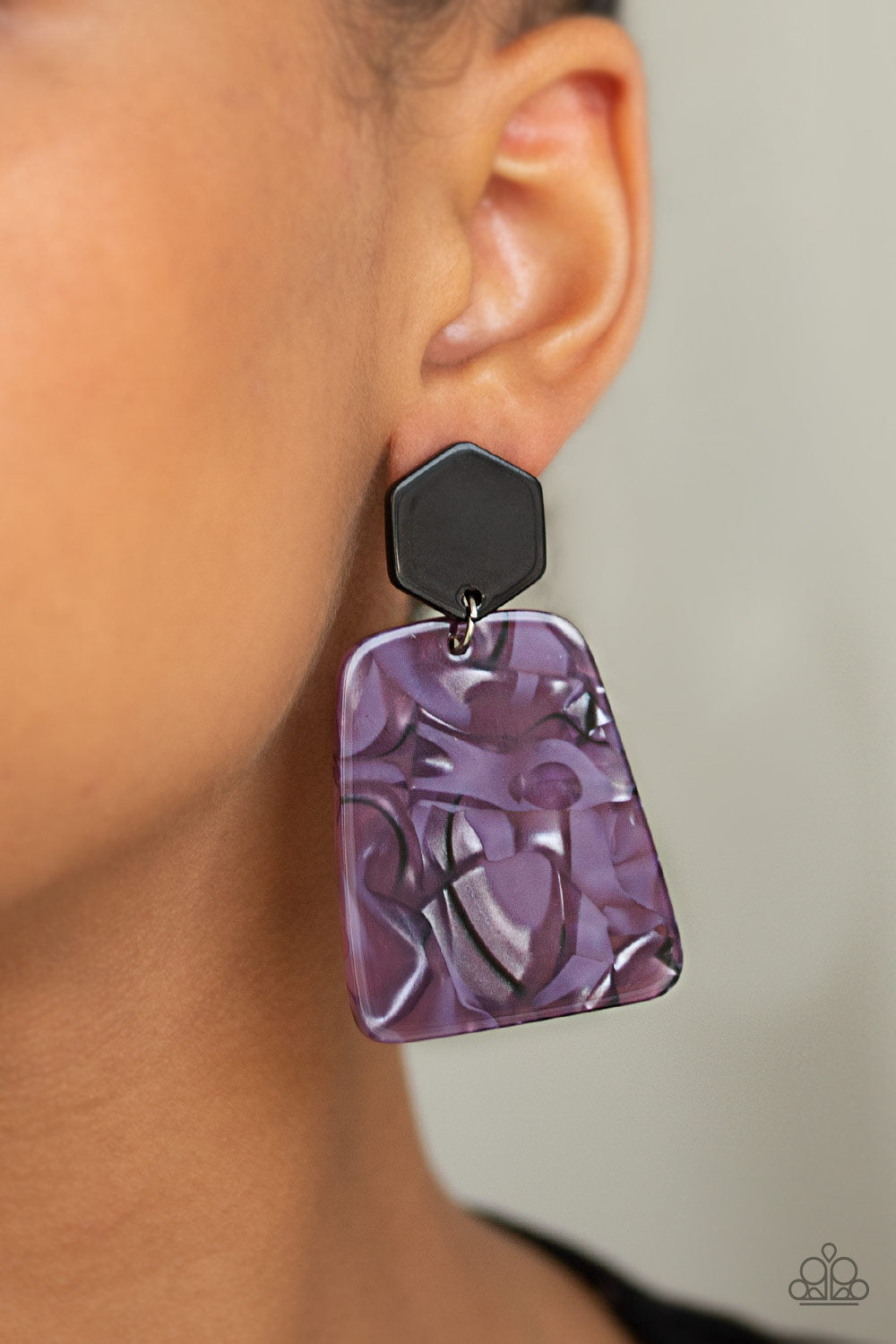 Paparazzi Accessories Majestic Mariner - Purple Earrings - Lady T Accessories