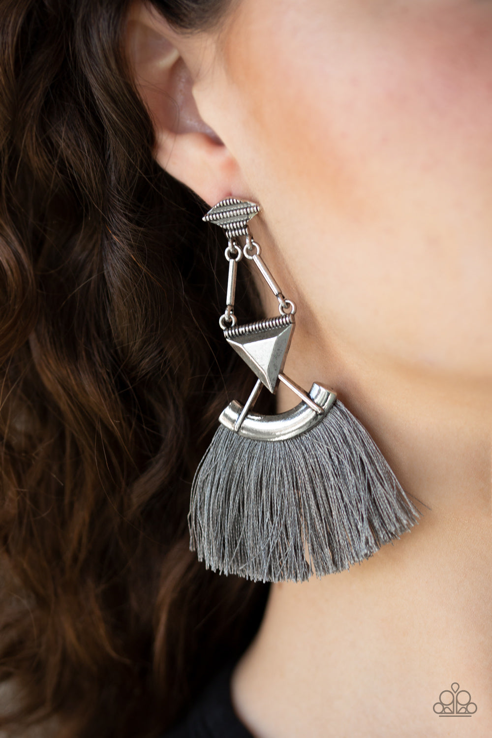 Paparazzi Accessories Puma Prowl - Silver Earrings - Lady T Accessories