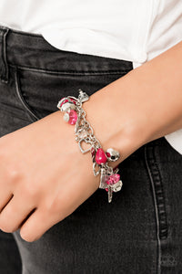 Paparazzi Accessories Completely Innocent - Pink Bracelets - Lady T Accessories