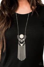 Load image into Gallery viewer, Paparazzi Accessories Spirit Trek - White Necklaces - Lady T Accessories