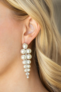 Paparazzi Accessories Totally Tribeca White Earrings - Lady T Accessories