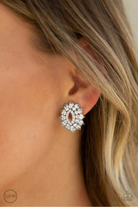 Paparazzi Accessories Brighten the Moment - White Earrings - Lady T Accessories