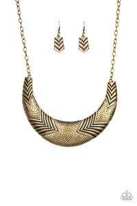 Paparazzi Accessories Geographic Goddess - Brass Necklaces - Lady T Accessories