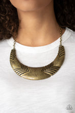 Load image into Gallery viewer, Paparazzi Accessories Geographic Goddess - Brass Necklaces - Lady T Accessories