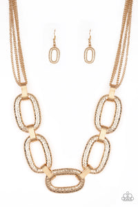 Paparazzi Accessories Take Charge - Gold Necklaces - Lady T Accessories