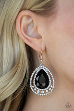 Load image into Gallery viewer, Paparazzi Accessories All Rise for Her Majesty - Black Earrings