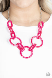 Paparazzi Accessories Turn Up the Heat - Pink Necklaces