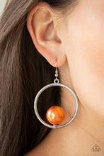 Load image into Gallery viewer, Paparazzi Accessories Solitaire REFINEMENT - Orange Earrings