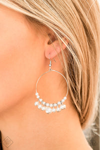 Paparazzi Accessories The PEARL-fectionist White Earrings - Lady T Accessories
