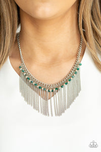 Paparazzi Accessories Divinely Diva - Green Necklaces - Lady T Accessories