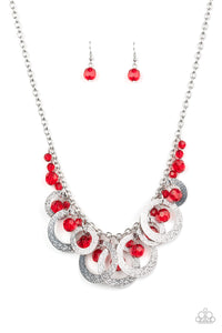 Paparazzi Accessories Turn It Up - Red Necklaces