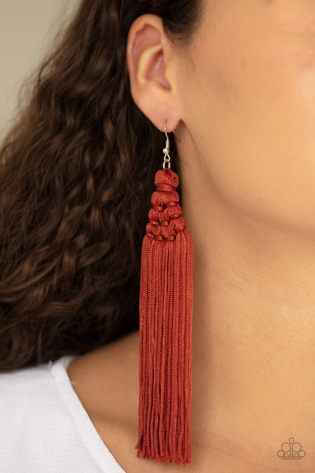 Paparazzi Accessories Magic Carpet Ride - Brown Earrings - Lady T Accessories