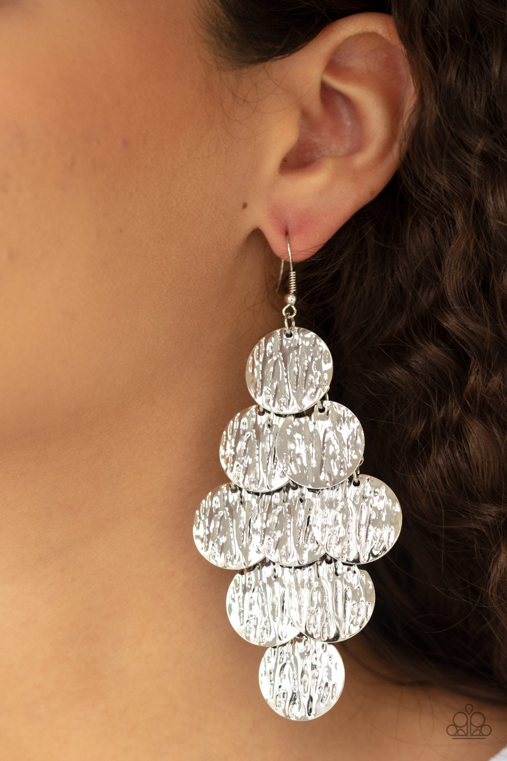 Paparazzi Accessories Uptown Edge - Silver Earrings - Lady T Accessories