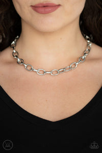 Paparazzi Accessories Urban Uplink - Silver Choker Necklaces - Lady T Accessories