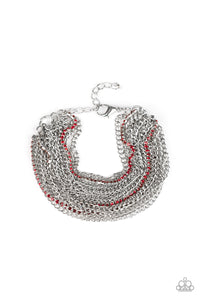 Paparazzi Accessories Pour Me Another - Red Bracelets - Lady T Accessories