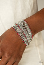 Load image into Gallery viewer, Paparazzi Accessories Pour Me Another - Red Bracelets