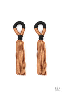 Paparazzi Accessories Moroccan Mambo - Brown Earrings - Lady T Accessories