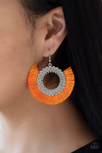 Paparazzi Accessories Fringe Fanatic Orange Earrings Lady T Accessories
