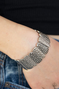 Texture Takedown Silver Bracelets Paparazzi Accessories Lady T Accessories