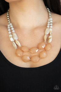 Paparazzi Accessories Seacoast Sunset - Brown Necklaces