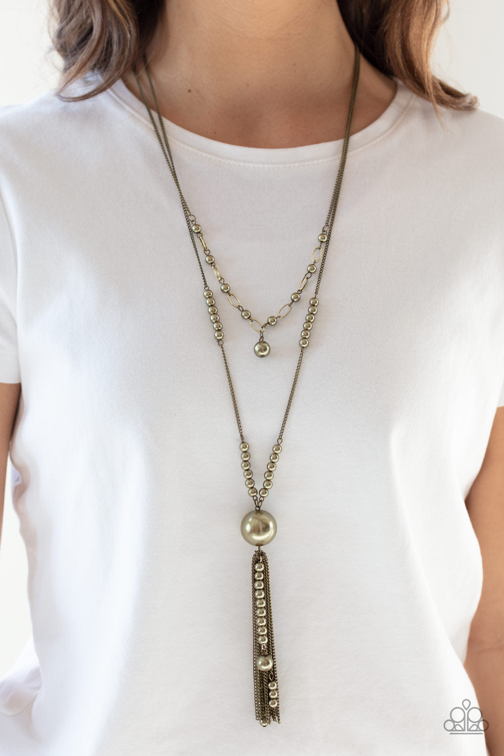 Paparazzi Accessories Abstract Elegance - Brass Necklaces