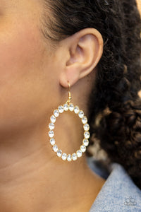 Paparazzi Accessories Welcome to the GLAM-boree - Gold Earrings