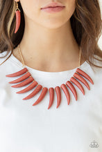 Load image into Gallery viewer, Paparazzi Accessories Tusk Tundra - Brown Necklaces - Lady T Accessories