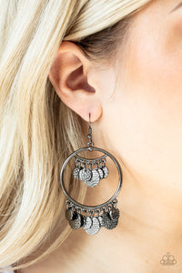 Paparazzi Accessories All-CHIME High - Black Earrings